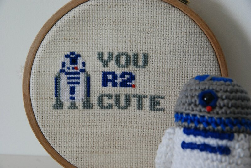 R2D2 cross stitch