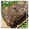 Cake marbré au cacao & thé matcha (avec mon partenaire la boutique du jetable)