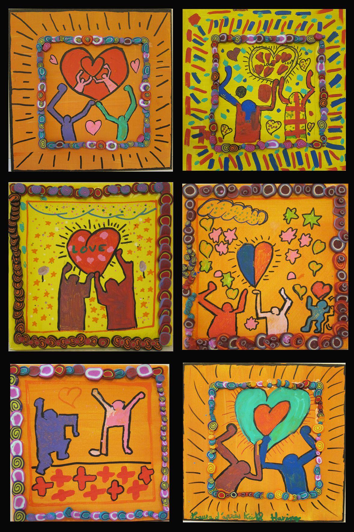 Pate fimo et peinture - à la manière de keith haring - stage enfants
