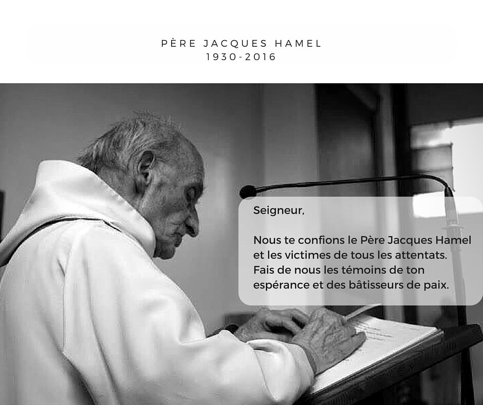 Message de Mgr Santier à propos de l'assassinat du Père Hamel