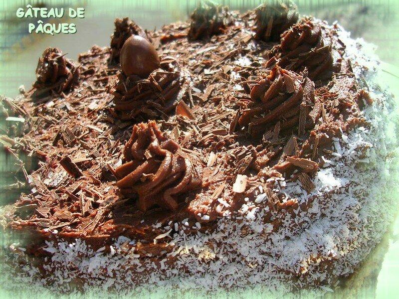 Gateau fourre avec mousse au chocolat