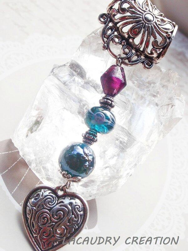 bijou de foulard coeur de valentine lacaudrycreation