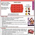 Fiche tupperware : moule à chocolat silicone
