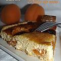 Tarte aux abricots et noix de coco