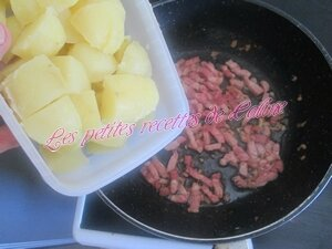 Poelée de pomme de terre, lardons et gruyère13