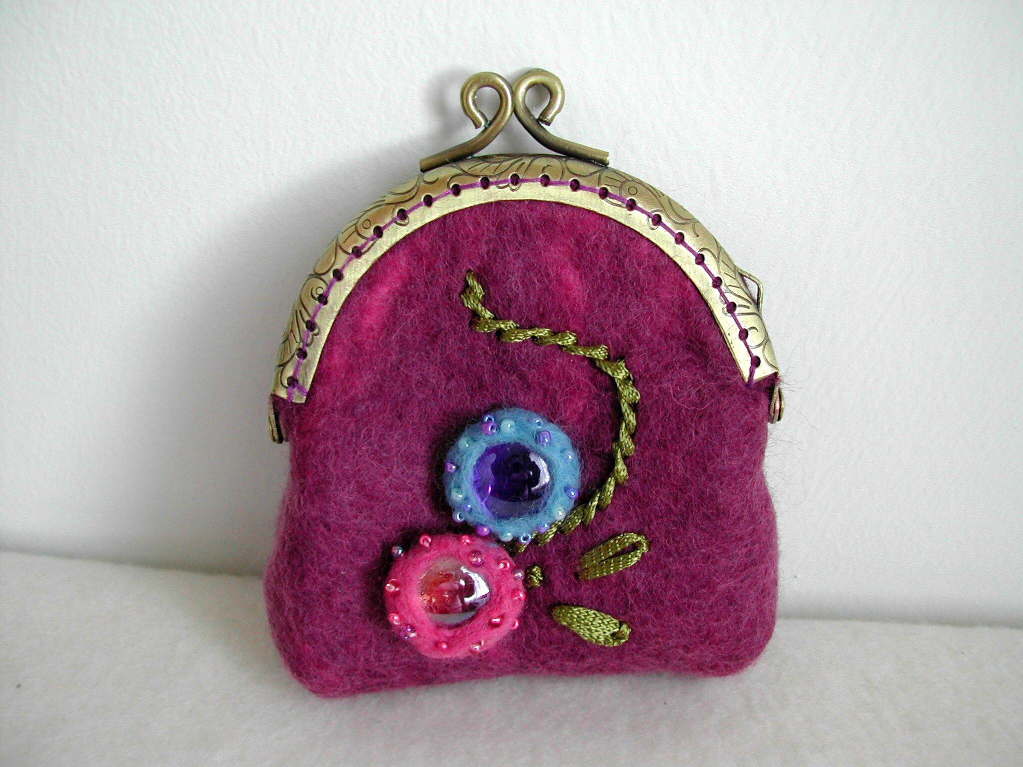 bourse rose/violet