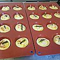 Mini quiches poulet et asperges vertes