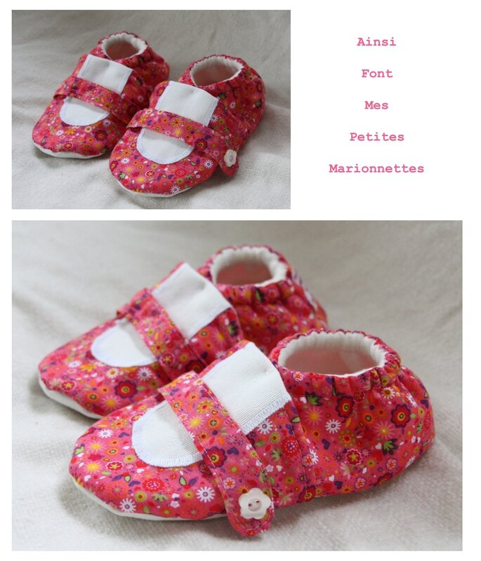 chausson ballerine fleurs
