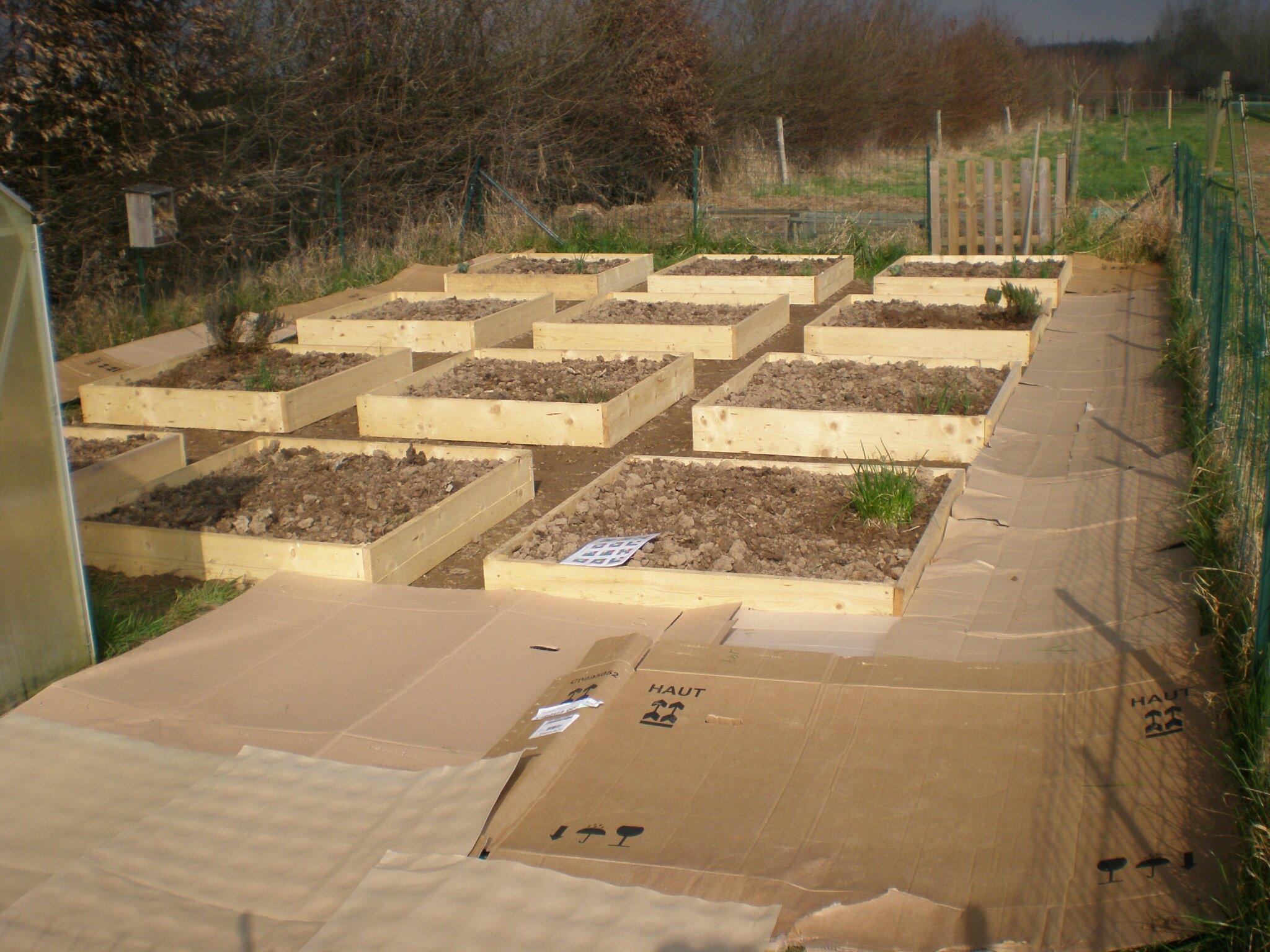 creation du potager en carres 5eme partie boutures de reves le jardin de sophie. Black Bedroom Furniture Sets. Home Design Ideas