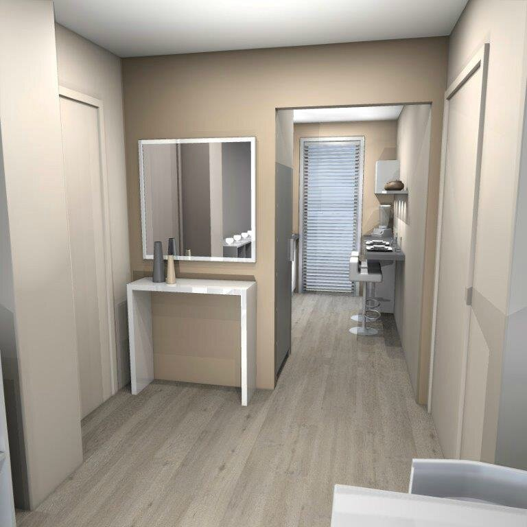Projet amenagement appartement marseille stinside for Deco entree d appartement