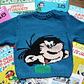 pull Gaston Lagaffe, taille 6 ans