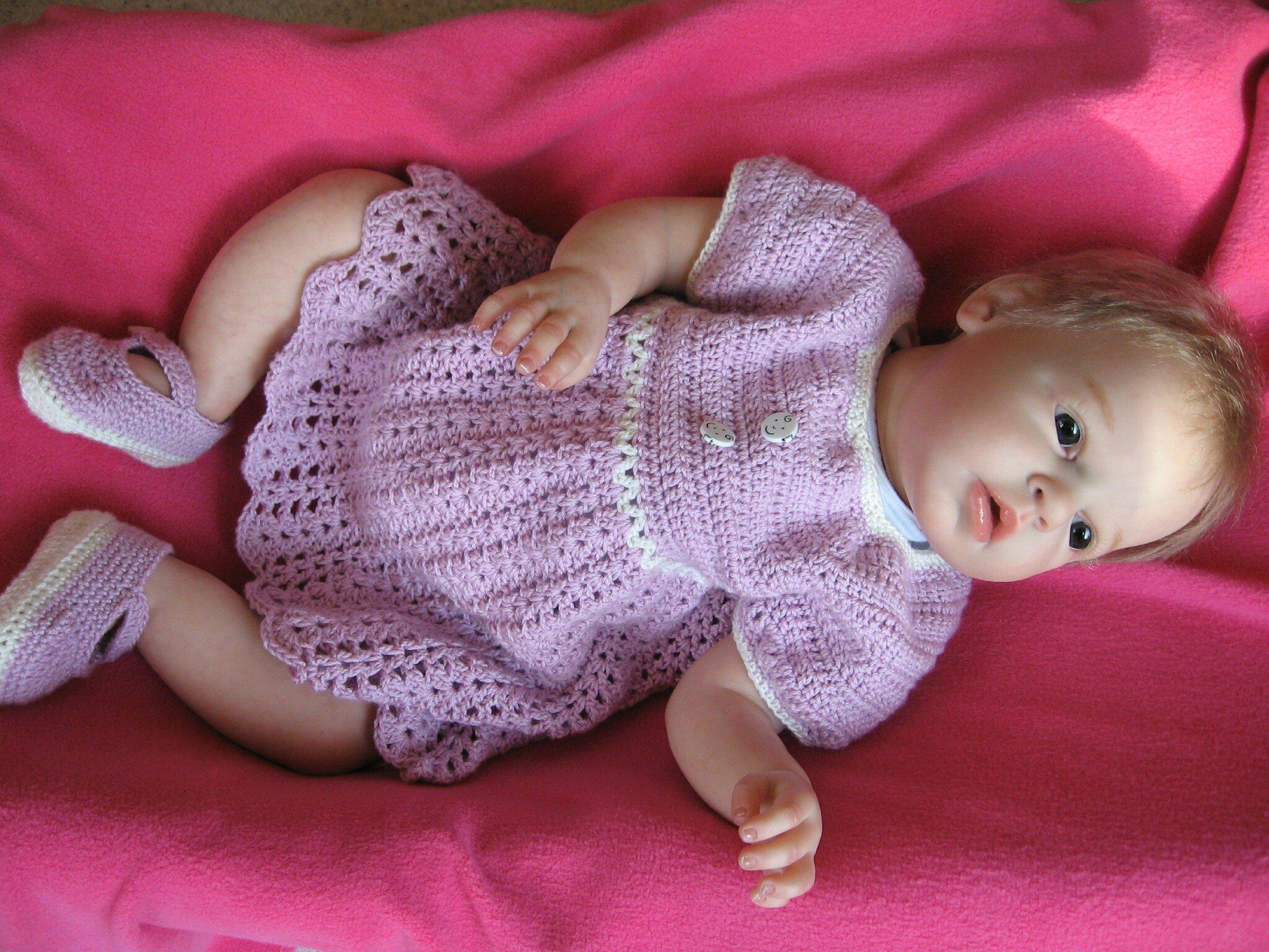 veste au crochet pour bébé