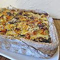 Quiche rustique, potiron et chtaigne