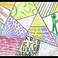 Réalisation d'un patchwork de dessin # 1
