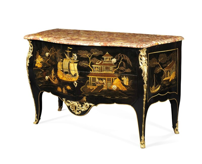 Commode par l onard boudin 1735 1807 re u ma tre for Commode japonaise