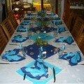 Table décorée sur le thème de la mer