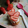 Bouchée fraise-chantilly