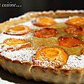 Tarte aux abricots et crème d'amandes pistache, pour culinoversions