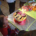 Gâteau anniversaire minnie et tortue ninja