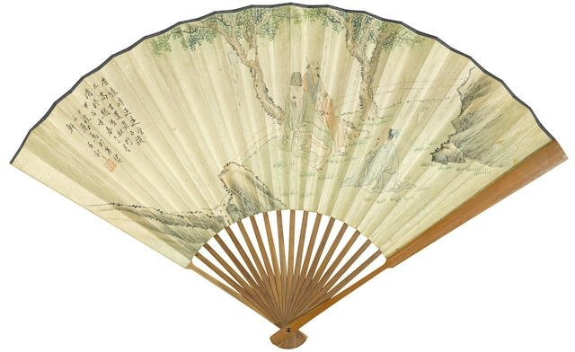 Tang Di (1878-1948) and Wu Yun (1811-1883), Two fan paintings