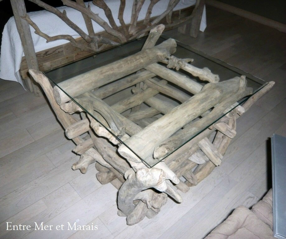 Table basse en bois flotte - Table basse bois flotte ...