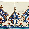 A Pair of Iznik Polychrome Tiles, Turkey, circa 1580