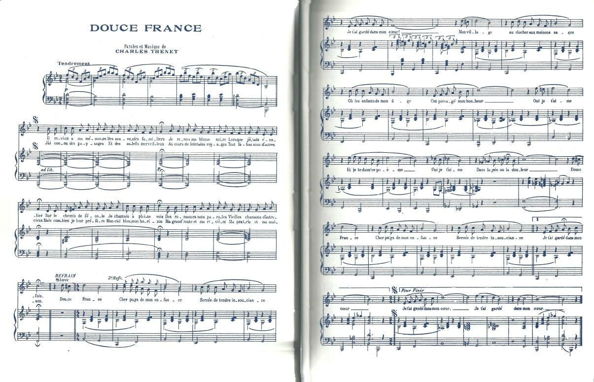 partition douce france accordeon