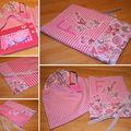 Protège-carnet de santé rose de fille