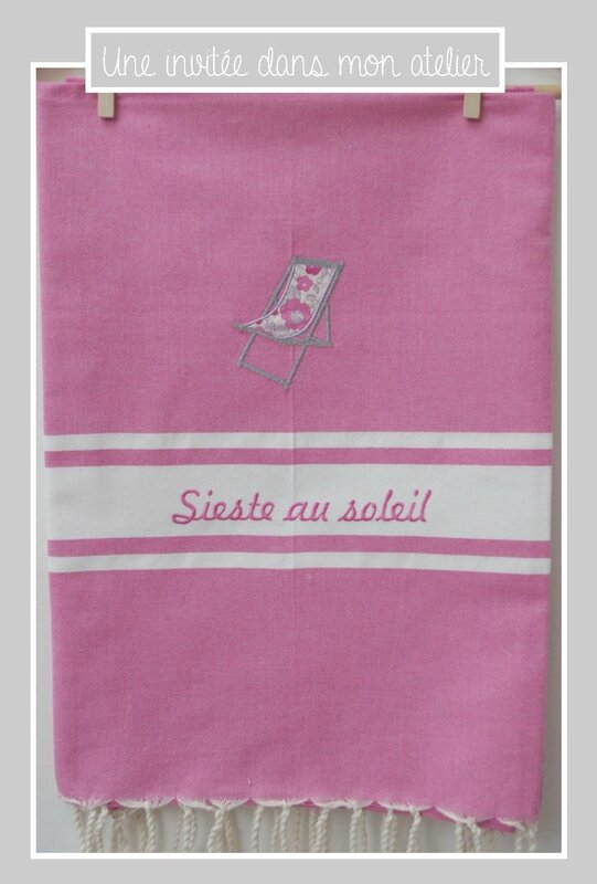 fouta-sieste au soleil-Liberty betsy bougainvillers