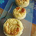 Petits cheesecakes de printemps aux petits pois et chèvre
