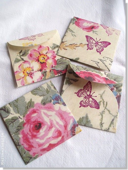 Enveloppes vintage fleuries