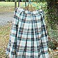 jupe écossaise à plis coton