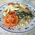 Filets de limande persillés et légumes à la vapeur