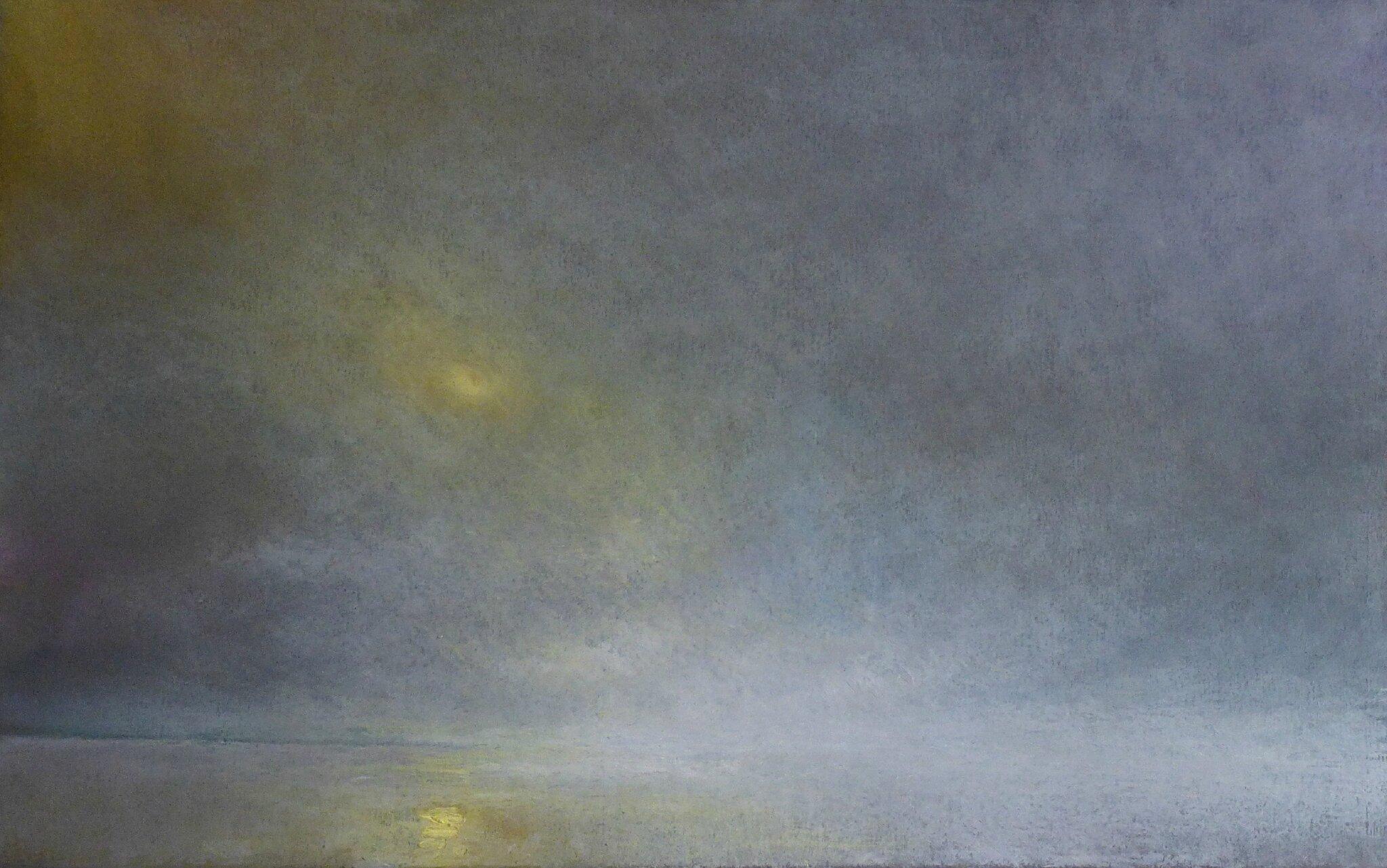 horizon elevation 78 janv 2017 pastel à l'huile 48 x 32 cm