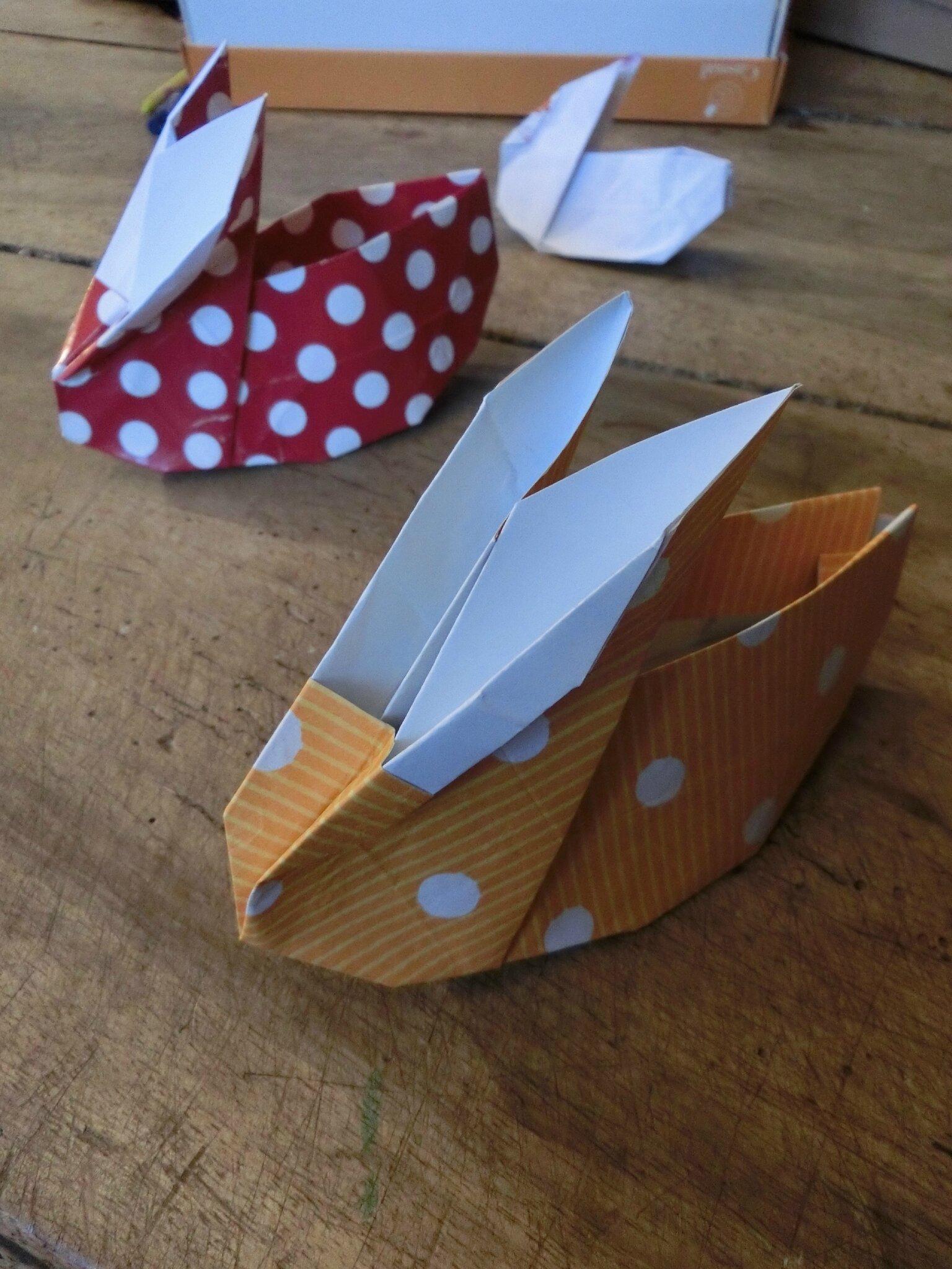 Défi origami : les lapins