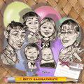 Caricatures enfants et parents