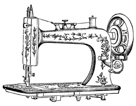 sewing machine antique Image GraphicsFairy5