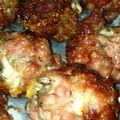 Boulettes de viande au roquefort