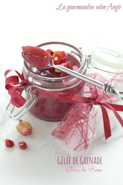 gelée grenade eau de rose vegan