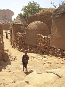 une concession dans un village dogon Mali