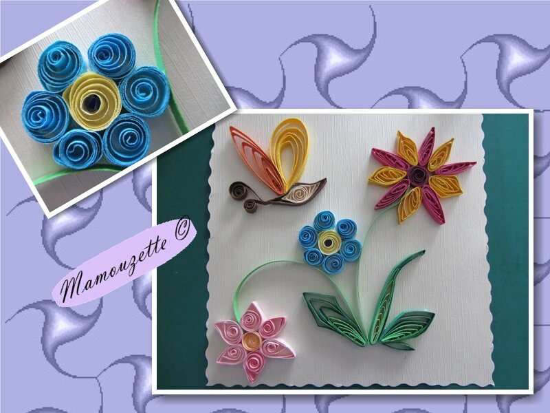carte d 39 anniversaire en quilling pour belle maman le quilling de mamouzette. Black Bedroom Furniture Sets. Home Design Ideas