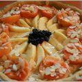 Tarte amandine aux abricots et pommes