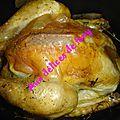Poulet roti a la sauge et au thym