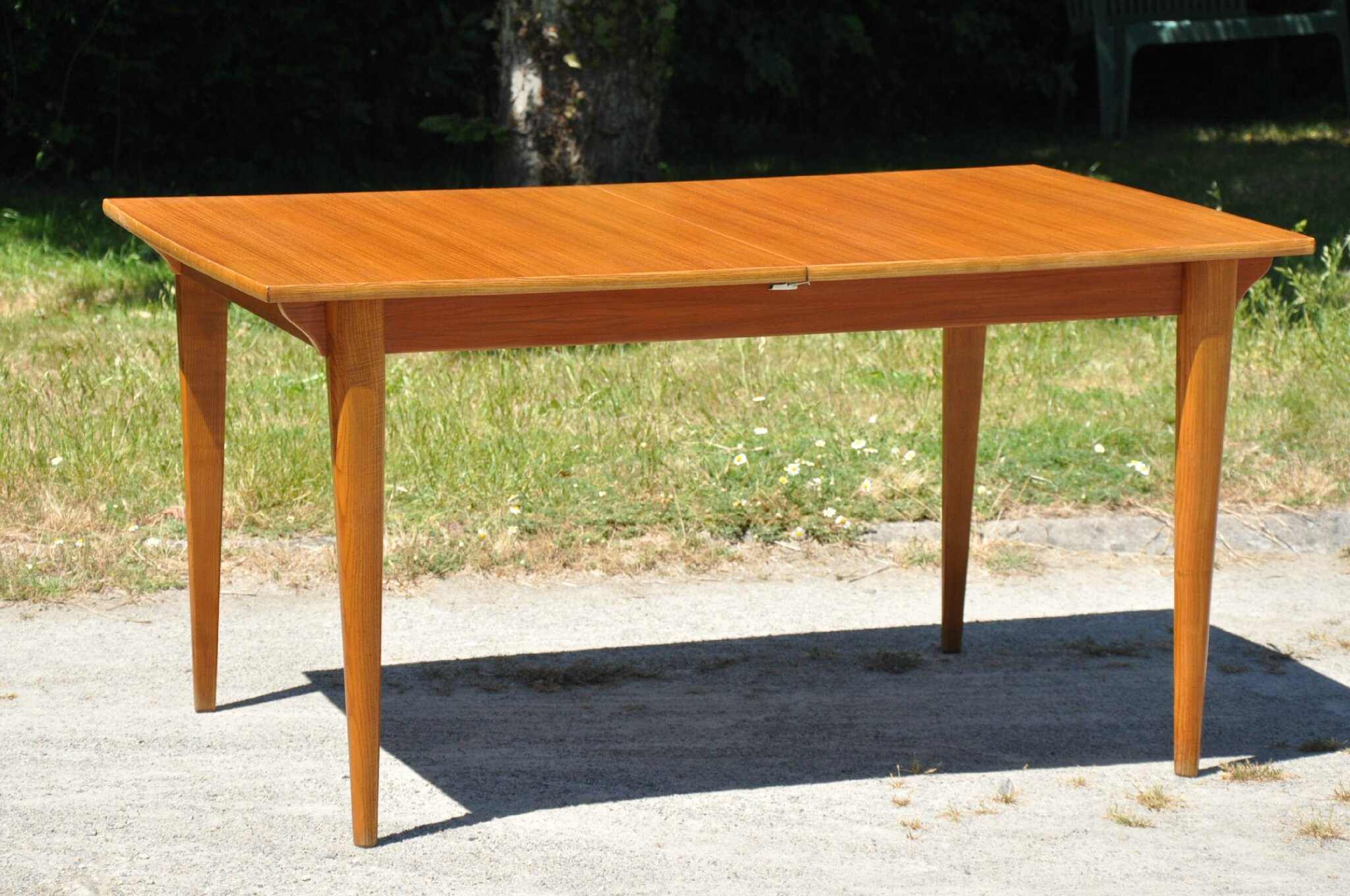Table rectangulaire de type scandinave annees 60 for Table scandinave a rallonge