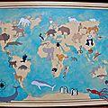 planisphère aux animaux