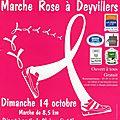 Marche rose à deyvillers - dimanche 14 octobre