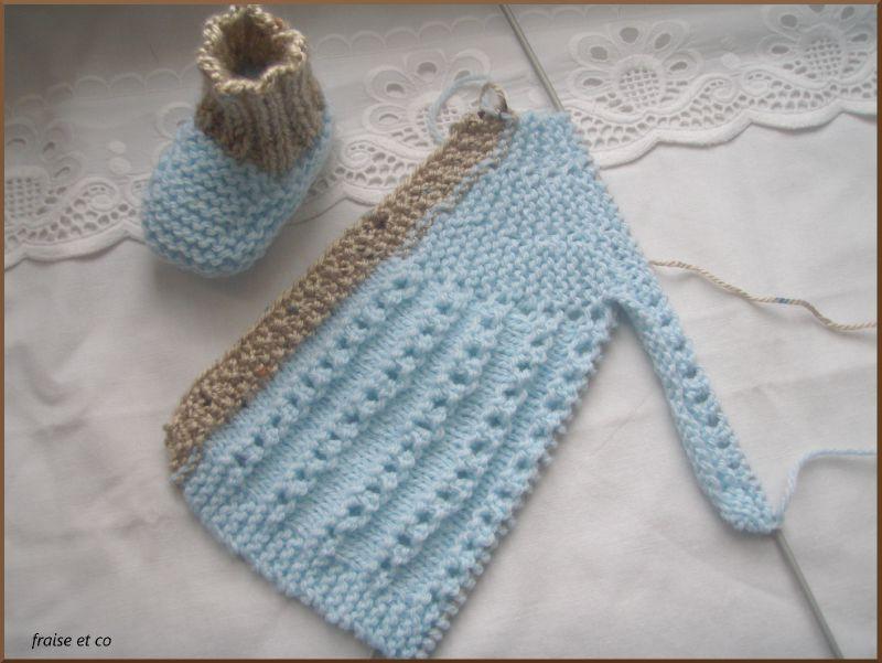 e5f80186bac Brassière en tricot pour bébé ensemble en laine naissance