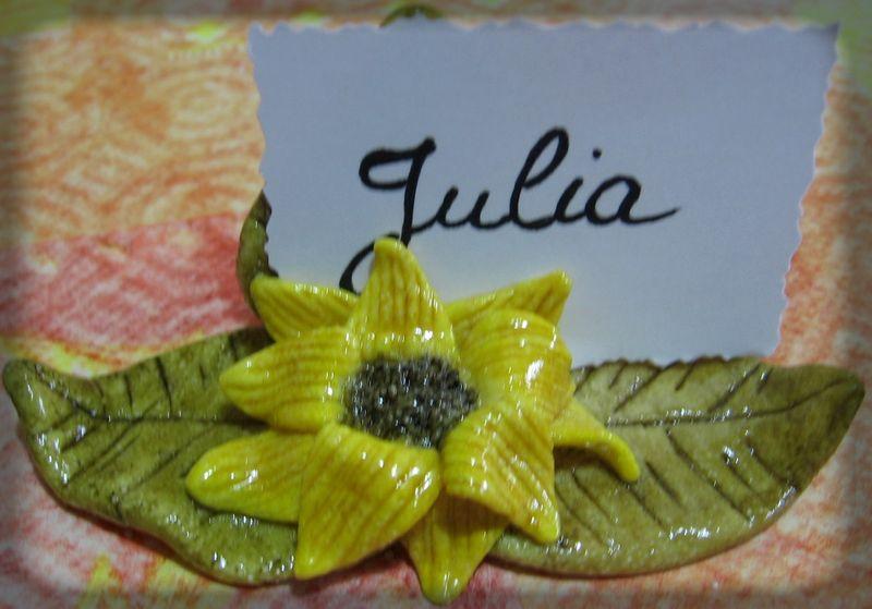 Marque-place fleur de tournesol