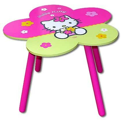 ensemble table et chaise pour chambre d 39 enfant ma collection hello kitty. Black Bedroom Furniture Sets. Home Design Ideas