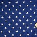 Tissu coton bleu marine étoiles crèmes
